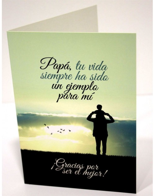 Tarjeta Cristiana Felicitacion - Papa
