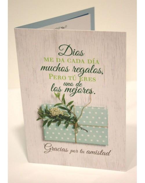 Tarjeta Cristiana Felicitacion - Dios me da cada dia
