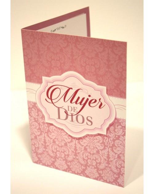 Tarjeta Cristiana Felicitacion - Mujer de Dios