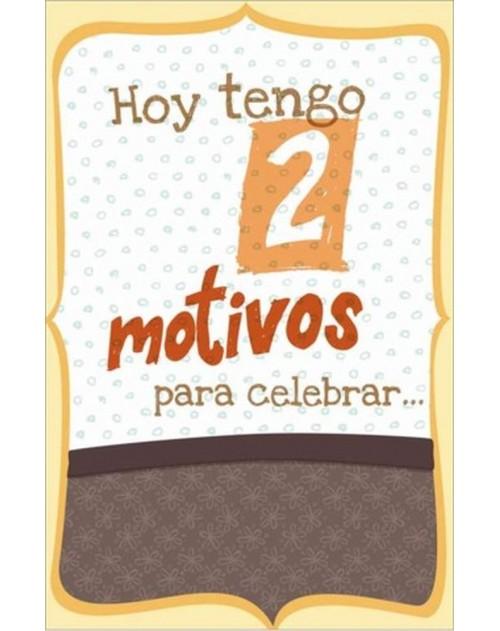 "Tarjeta Cumpleaños ""Dos Motivos"""
