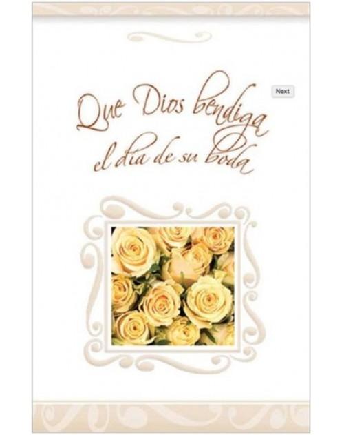 Que Dios bendiga el día de su boda